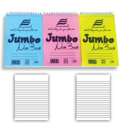 Top Spiral & JUMBO Note books A6, Short Hand note books A5