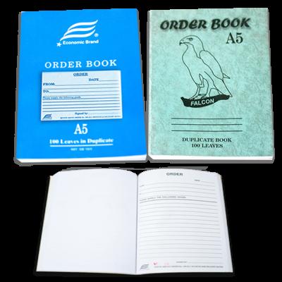 ORDER BOOK DUPLICATE