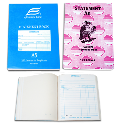 STATEMENT BOOK DUPLICATE